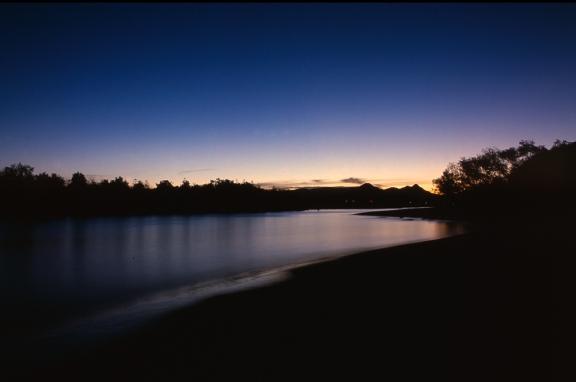 Sunset on the Brunswick River estuary